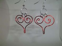Crimson Heart Earrings