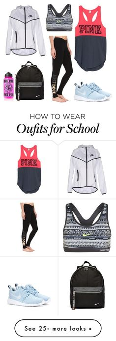 """Lazy School Days"" by maris-herrington-1 on Polyvore featuring NIKE, women's clothing, women's fashion, women, female, woman, misses and juniors"