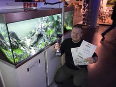 Stu Worrall won 1st place in the live aquascaping category and 4th place in the overall xl.  – @ Messe Magdeburg. #aquascaping #aquascape