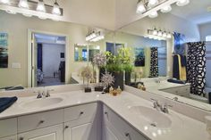 His and Her sinks! Open 7 days a week for touring. http://www.bridgesatwindriver-apts.com/ #rtp #morrisvilleapartments #durhamapartments