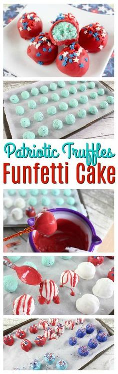 This 4th of July, make these delicious Patriotic Funfetti Cake Truffles. Your own taste buds will be begging you for more! https://www.southernfamilyfun.com/patriotic-funfetti-cake-truffles/ via @winonarogers