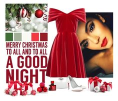 """Merry Christmas To All!"" by katiethomas-2 ❤ liked on Polyvore featuring Sixtrees, Emilio De La Morena, Oscar de la Renta, Christian Louboutin and Lalique"