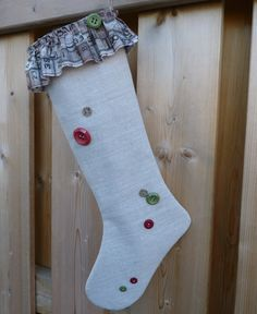 Christmas Stocking  Shabby