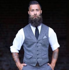 Beard Boy, Beard No Mustache, Beard Gang, Sharp Dressed Man, Well Dressed Men, Proper Attire, Great Beards, Beard Grooming, Groom Attire