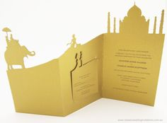 India Landscape- Laser cut invitation