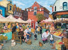 English Farm Market a 1000-Piece Jigsaw Puzzle by Sunsout Inc. ** More info could be found at the image url.