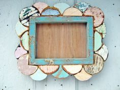 Mosaic Picture Frame by woodenaht on Etsy