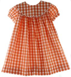 Hiccups Childrens Boutique - Girls Orange Monogrammable Float Dress