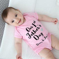 Girls 1st Father's Day Bodysuit