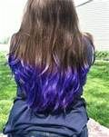 Bleached ends: use Flash LIghtning by Manic Panic, follow with Ultra Violet by Manic Panic www.hairbomb.com
