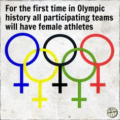 #Olympics for the first time EVER #SaudiArabia is sending female athletes & the US team has more women than men #girlpower