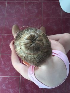 My Nieces ballerina bun done by yours truly
