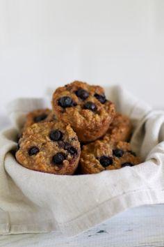Blueberry and oat mu
