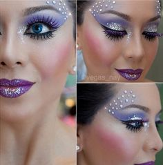 Pretty costume makeup.