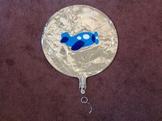 Airplane balloon for baby shower.