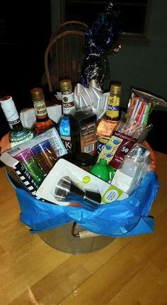 Huge alcohol gift basket