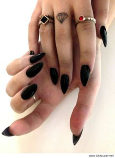 Awesome long black nails