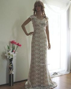 Victoria Vintage Inspired Lace Wedding Dress by EllanaCouture
