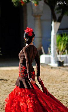 The World's Best Photos of flamenco and sevillanas Spanish Dress, Spanish Dancer, Latin Dance, Dance Art, Costume Flamenco, Dance Costumes, Burlesque, Tango Dress, Tango Dance