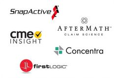 Logos and brand identities for various technology-oriented companies.