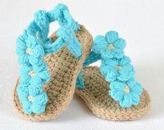 CROCHET PATTERN Baby Sandals Buttercup Espadrille Baby Sandal Easy Beginner…