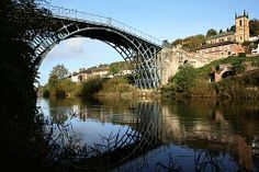 The Ironbridge Bridge in Ironbridge Telford Shropshire England UK, Spanning the River Severn