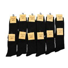 12 Pairs: Classic Ultra-Soft Dress Socks - Black at 84% Savings off Retail!