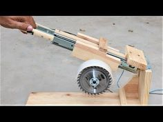 How to Make a Useful SAW MACHINE - DIY Miter Saw - YouTube
