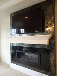 Fireplace treatment with natural Mica.