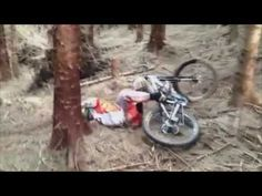 Massive Crash On The Step Down MTB DH - YouTube