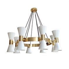 BRASS RING CHANDELIER by Birgit Israel | LIGHTING in the BI Collection