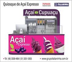 Quiosques para Sorvete, Açaí Expresso, Frozen Yogurt e muito mais ! - www.grupoitalianinha.com.br