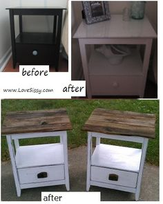 How to redo particle board furniture  Great website with excellent ideas for furniture redos