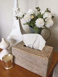 White Wash Rattan Cane Woven Tissue BOX Cover Holder Rectangle | eBay