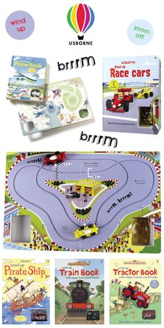 Wind Up & Zoom Off With Usborne's Range Of Interactive Books