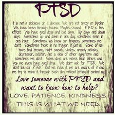 What someone with PTSD does not need are a bunch of pamphlets sent by a nonprofessional, explaining what PTSD is....just awful! The person with PTSD knows what it is and only wants information concerning it to come from a medical professional.