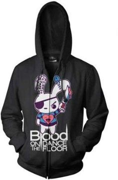 I found 'Blood On The Dance Floor - Blood Bunny Zip Hoodie Shirt' on Wish, check it out!