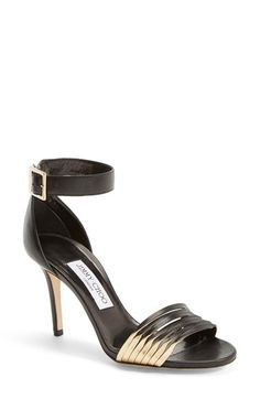 Jimmy Choo 'Livvi' Leather Ankle Strap Sandal (Women) available at #Nordstrom