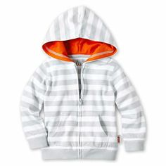 giggleBABY™ Zip-Front Striped Hoodie - newborn-24m - jcpenney #baby #clothing #cute