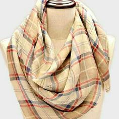 Urban Check Print Scarf Polyester Beige Accessories Scarves & Wraps