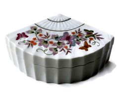 Vintage Avon Trinket Box Fan Shape by EclecticVintager on Etsy, $10.00