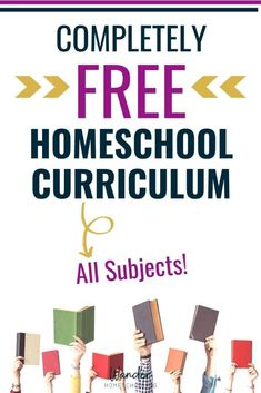 Grab this list of FREE Homeschool Curriculum for All Subjects including multiple subjects, language arts, math, science, history, and more. #fhdhomeschoolers #freehomeschooldeals #freecurriculum #listoffreecurriculum