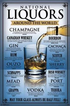 National Liquors Poster, by Party Drinks Alcohol, Alcohol Drink Recipes, Liquor Drinks, Whiskey Drinks, Cigars And Whiskey, Wine And Liquor, Scotch Whiskey, Cocktail Drinks, Alcoholic Drinks