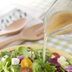 Top your salads off with a simple sauce. The simpler, the healthier. #nutrition #diet | health.com
