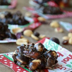 No Bake Peanut Butter Nut Crunch Cookies Recipe Desserts with unsalted butter, granulated sugar, milk, dark chocolate cocoa powder, peanut butter, old-fashioned oats, nuts