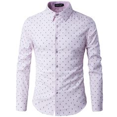Camisas Promotion Real Full Casual Shirts 2017 Men's Cultivate One's Morality In England Shirt Printing Long Sleeve Shirts #Affiliate