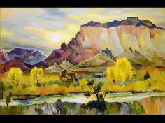 "Gene Kloss (1903-1996) ""Where the River Chama Flows"" Zaplin Lambert Gallery, Santa Fe, N.M."
