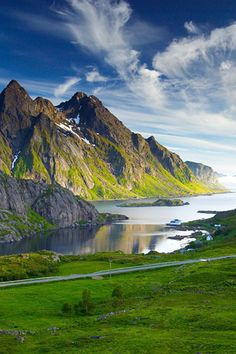 Nordic landscape....wow....can I imagine driving along the road with THIS view? :) very pretty