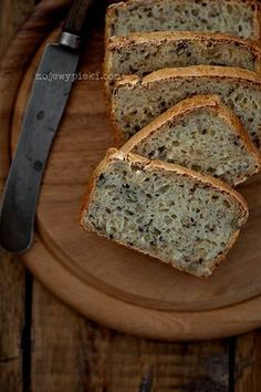 Chleb bezglutenowy Gluten Free Desserts, Gluten Free Recipes, Bread Recipes, Cooking Recipes, Healthy Recipes, Sin Gluten, Banana Bread, Good Food, Food And Drink