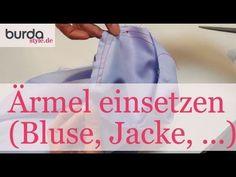 ▶ Ärmel einsetzen (Blusen, Jacken und Co.) - YouTube